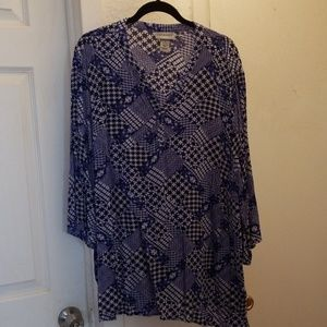 3/4 sleeve blouse tunic